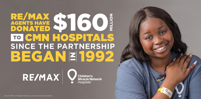 RE/MAX Donations to Children's Miracle Network Hospitals Cross $160 Million